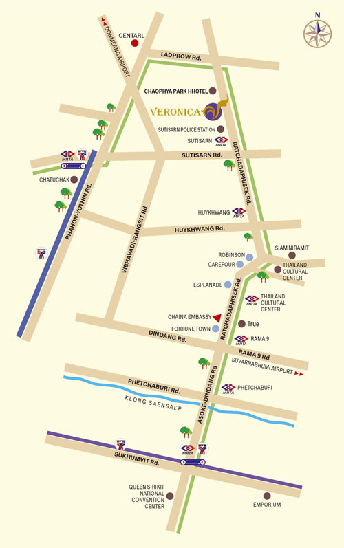 Veronica Residence Hotel Map